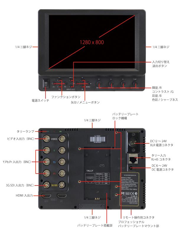 7型モニター ADTECHNO CL76HOXNの詳細画像2
