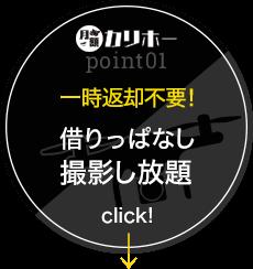 カリホーPoint01 一時返却不要! 借りっぱなし 撮影し放題 click!